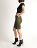 Alaïa Vintage Iconic Olive Green Stretch Skirt - Amarcord Vintage Fashion  - 4
