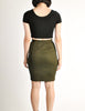 Alaïa Vintage Iconic Olive Green Stretch Skirt - Amarcord Vintage Fashion  - 6