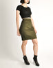 Alaïa Vintage Iconic Olive Green Stretch Skirt - Amarcord Vintage Fashion  - 5