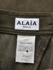 Alaïa Vintage Iconic Olive Green Stretch Skirt - Amarcord Vintage Fashion  - 7