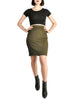Alaïa Vintage Iconic Olive Green Stretch Skirt - Amarcord Vintage Fashion  - 1