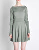 Alaïa Vintage Sage Green Deep V Back Dress - Amarcord Vintage Fashion  - 8