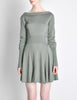 Alaïa Vintage Sage Green Deep V Back Dress - Amarcord Vintage Fashion  - 2