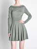 Alaïa Vintage Sage Green Deep V Back Dress - Amarcord Vintage Fashion  - 3