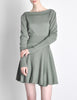 Alaïa Vintage Sage Green Deep V Back Dress - Amarcord Vintage Fashion  - 9