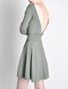 Alaïa Vintage Sage Green Deep V Back Dress - Amarcord Vintage Fashion  - 4