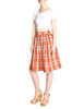 Alaia Vintage Red Plaid Skirt
