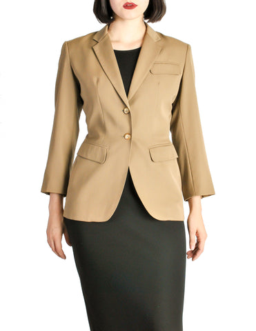 Alaïa Vintage Beige Tailored Blazer
