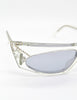 Mikli Vintage Clear Asymmetrical Space Sunglasses 305 100 - Amarcord Vintage Fashion  - 3