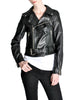 Amarcord Recycled Leather Motorcycle Jacket - Amarcord Vintage Fashion  - 1