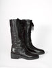 Ann Demeulemeester Vintage Black Leather Lace Up Boots