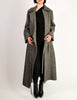 Ann Demeulemeester Vintage Grey Felted Wool Wrap Coat