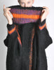 B. Altman & Co. Vintage Striped Knit Mohair Poncho - Amarcord Vintage Fashion  - 5
