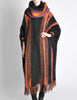 B. Altman & Co. Vintage Striped Knit Mohair Poncho - Amarcord Vintage Fashion  - 2
