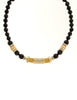 Balenciaga Vintage Black & Gold Rhinestone Necklace - Amarcord Vintage Fashion  - 2