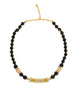 Balenciaga Vintage Black & Gold Rhinestone Necklace - Amarcord Vintage Fashion  - 1