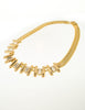 Balenciaga Vintage Gold Rhinestone Necklace - Amarcord Vintage Fashion  - 4