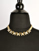 Balenciaga Vintage Gold Rhinestone Necklace - Amarcord Vintage Fashion  - 5