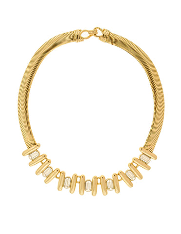 Balenciaga Vintage Gold Rhinestone Necklace