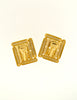 Balenciaga Vintage Gold Rhinestone Earrings - Amarcord Vintage Fashion  - 6