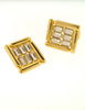 Balenciaga Vintage Gold Rhinestone Earrings - Amarcord Vintage Fashion  - 3