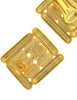 Balenciaga Vintage Gold Rhinestone Earrings - Amarcord Vintage Fashion  - 5