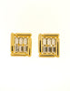 Balenciaga Vintage Gold Rhinestone Earrings - Amarcord Vintage Fashion  - 2