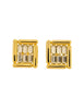 Balenciaga Vintage Gold Rhinestone Earrings - Amarcord Vintage Fashion  - 1