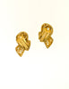 Balenciaga Vintage Seafoam Enamel Gold Twist Earrings - Amarcord Vintage Fashion  - 4