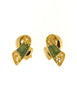 Balenciaga Vintage Seafoam Enamel Gold Twist Earrings - Amarcord Vintage Fashion  - 2
