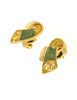 Balenciaga Vintage Seafoam Enamel Gold Twist Earrings - Amarcord Vintage Fashion  - 3