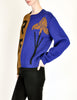 Anne Marie Beretta Vintage Blue & Brown Iris Sweater - Amarcord Vintage Fashion  - 4