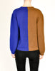 Anne Marie Beretta Vintage Blue & Brown Iris Sweater - Amarcord Vintage Fashion  - 6