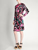 Bessi Vintage Silk Jersey Tropical Floral Print Dress - Amarcord Vintage Fashion  - 3