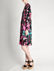 Bessi Vintage Silk Jersey Tropical Floral Print Dress - Amarcord Vintage Fashion  - 4