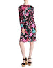 Bessi Vintage Silk Jersey Tropical Floral Print Dress - Amarcord Vintage Fashion  - 1