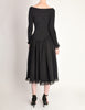 Betsey Johnson Punk Label Vintage Hook and Eye Black Lace Dress