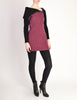 Betsey Johnson Punk Label Vintage Purple and Black Knit Sweater Dress