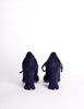 Biba Vintage Navy Blue Suede Mary Jane Heels - Amarcord Vintage Fashion  - 6