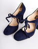 Biba Vintage Navy Blue Suede Mary Jane Heels - Amarcord Vintage Fashion  - 5