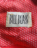 Bill Blass Vintage Red & White Polka Dot Silk Collared Dress - Amarcord Vintage Fashion  - 6