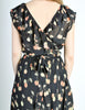 Cori Vintage Semi-Sheer Black Cherry Print Wrap Dress - Amarcord Vintage Fashion  - 8