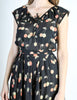 Cori Vintage Semi-Sheer Black Cherry Print Wrap Dress - Amarcord Vintage Fashion  - 5