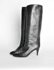 Garolini Vintage Black Leather Knee High Boots - Amarcord Vintage Fashion  - 2