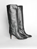 Garolini Vintage Black Leather Knee High Boots - Amarcord Vintage Fashion  - 4