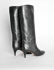 Garolini Vintage Black Leather Knee High Boots - Amarcord Vintage Fashion  - 5