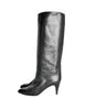 Garolini Vintage Black Leather Knee High Boots - Amarcord Vintage Fashion  - 1