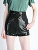 Vintage 1970s Black Sequin Hot Pant Shorts - Amarcord Vintage Fashion  - 5