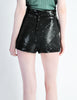 Vintage 1970s Black Sequin Hot Pant Shorts - Amarcord Vintage Fashion  - 7