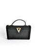 Surrey Vintage 1960s Black Box Handbag - Amarcord Vintage Fashion  - 2
